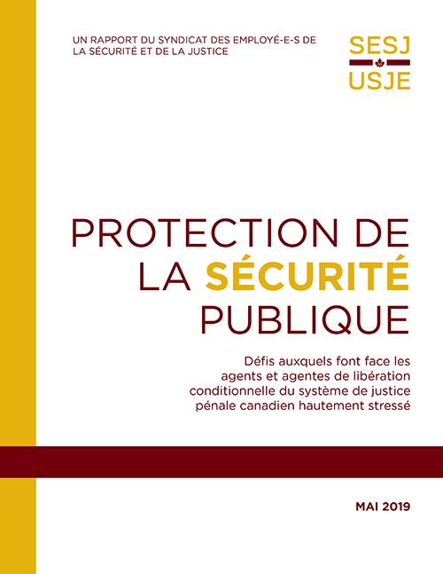 Couverture de rapport - Protéger la sécurité publique